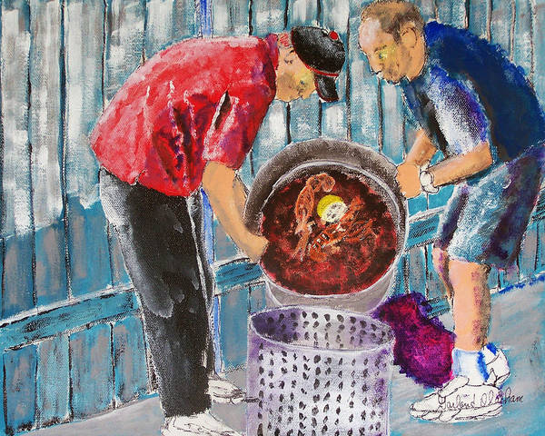 Painting - Boiling Mud Bugs by Garland Oldham
