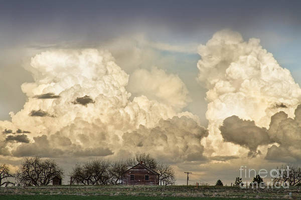 Photograph - Boiling Thunderstorm Clouds And The Little House On The Prairie by James BO Insogna
