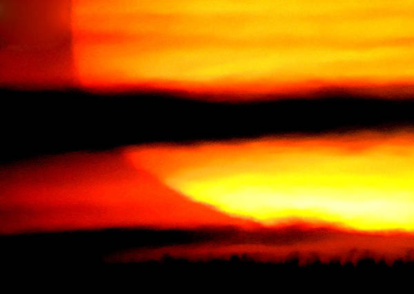 Photograph - Boiling Warm Sunset by Colette V Hera  Guggenheim
