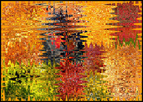 Photograph - Bold Autumn Colors Abstract by Carol Groenen