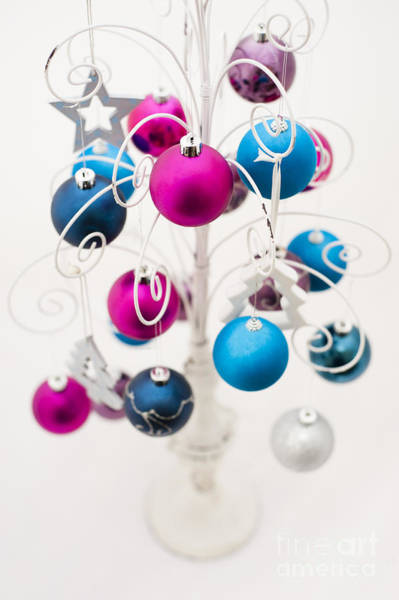Cerise Photograph - Bold Baubles by Anne Gilbert
