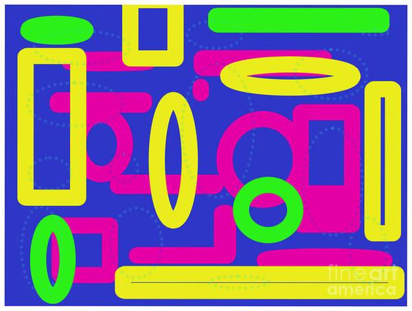 Digital Art - Bold Multicoloured Design by Barefoot Bodeez Art