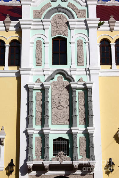 Photograph - Bolivar Palace Facade Detail by James Brunker