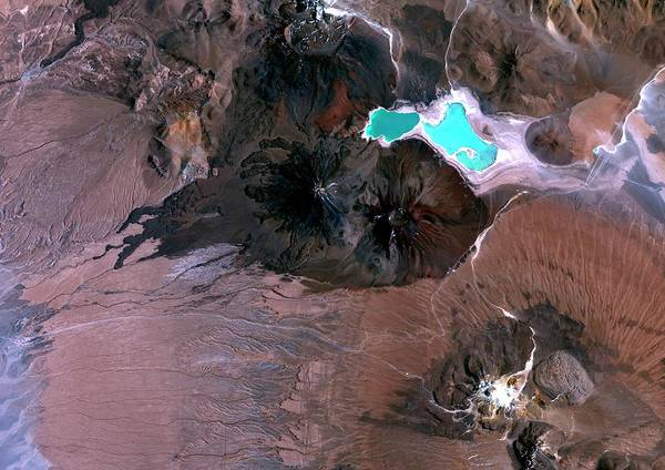 Verde Photograph - Bolivian Volcanoes by Planetobserver/science Photo Library