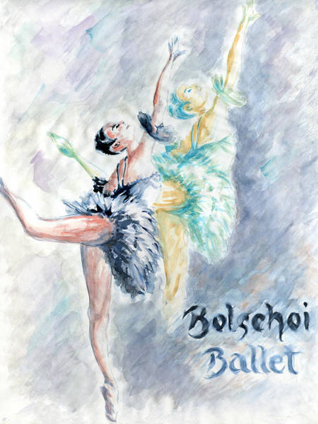 Painting - Ballet Dancers - Watercolor by Peter Potter