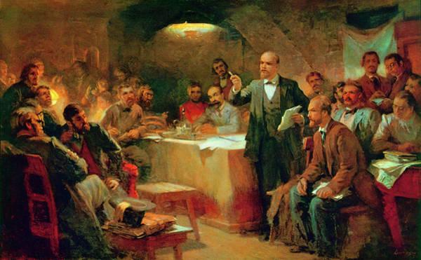Lenin Painting - Bolshevik Meeting, 1903 by Granger