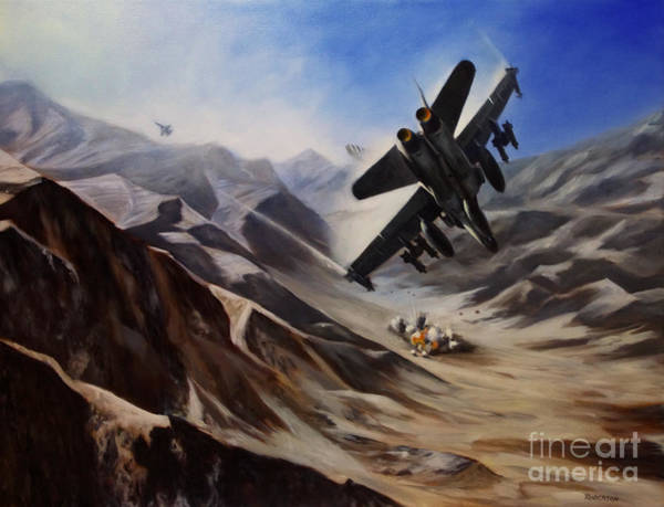 Marine Corps Painting - Bomb Run by Stephen Roberson