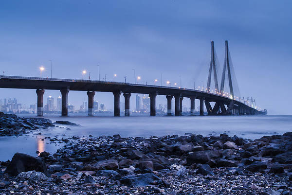 Bluehour Photograph - Bombay Blues by Mayank Pandey