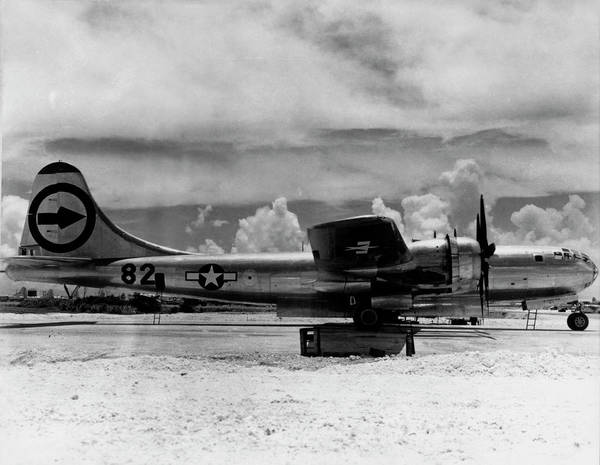 Superfortress Photograph - Bomber Which Dropped The First Atomic Bomb In War by Us Air Force/science Photo Library