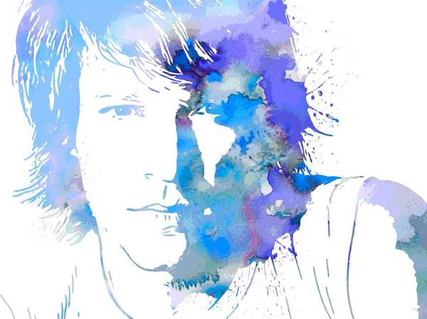 Wall Art - Photograph - Bon Jovi Paint Splatter Portrait by Dan Sproul