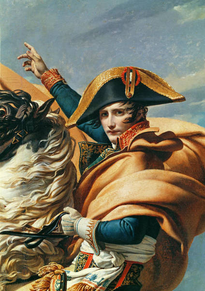 Emperor Photograph - Bonaparte Crossing The Alps Oil On Canvas Detail Of 18491 by Jacques Louis David
