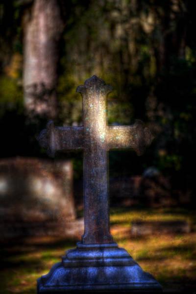 Famous Cemeteries Photograph - Bonaventure Cross by Mark Andrew Thomas