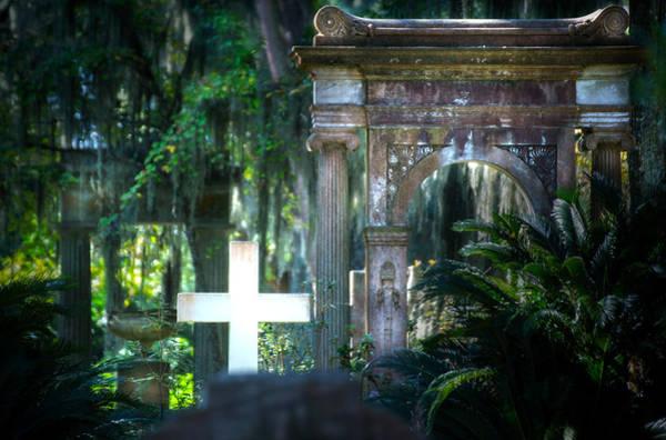 Famous Cemeteries Photograph - Bonaventure Memorials by Mark Andrew Thomas