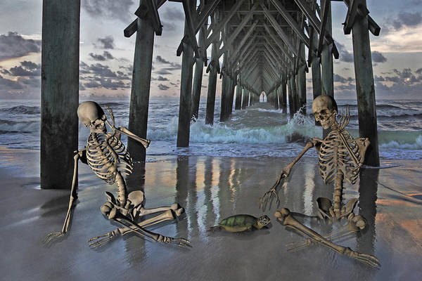 Wall Art - Digital Art - Bonefied Buddies by Betsy Knapp
