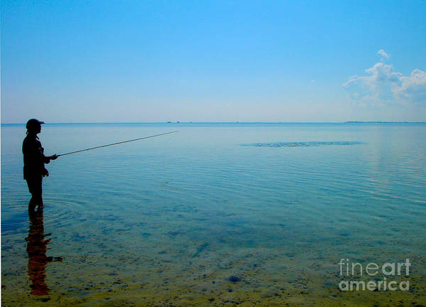 Fly Fishing Photograph - Bonefish Stalk  by Carey Chen