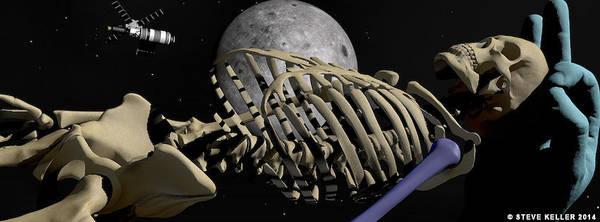 Darkside Photograph - Bones In Space by Steve Keller