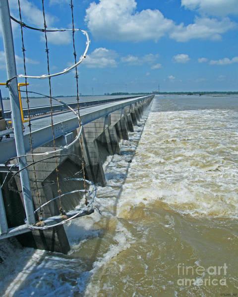 Photograph - Bonnet Carre Spillway Floodwaters 2011 Louisiana by Lizi Beard-Ward