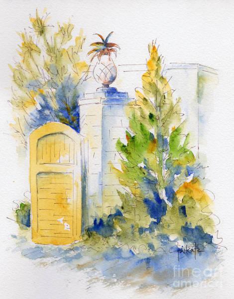 Painting - Bonnet House Garden Gate by Pat Katz