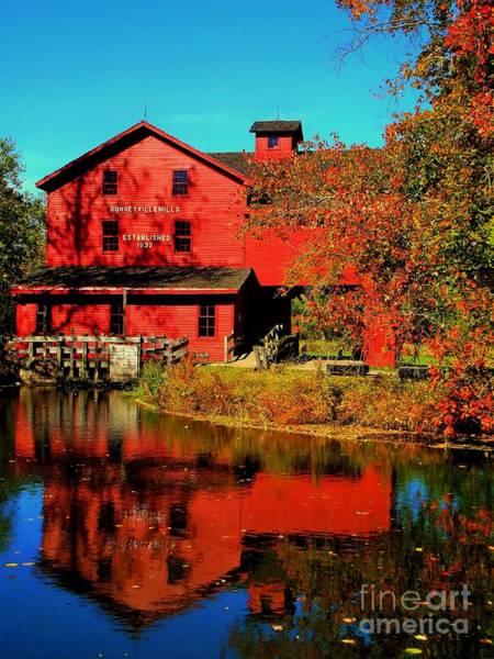 Bonneyville Grist Mill And Pond Art Print