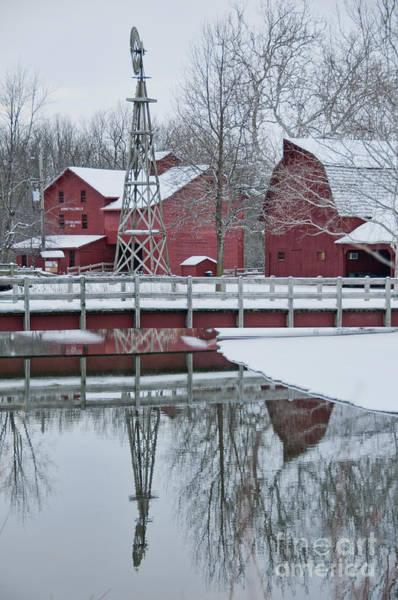 Bonneyville Mill Winter Art Print