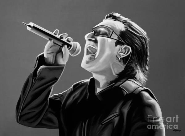 Desire Mixed Media - Bono U2 by Meijering Manupix