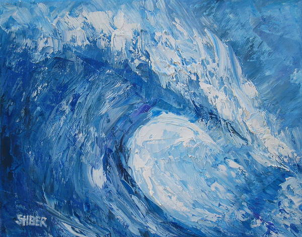 Tsunami Painting - Bonsai Wave by Kathy Stiber