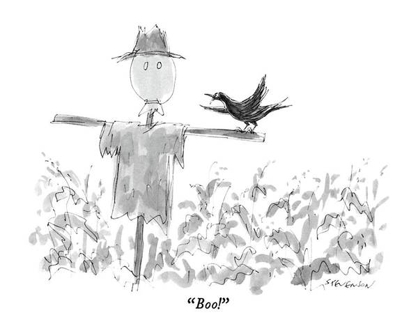 Rural Drawing - Boo! by James Stevenson