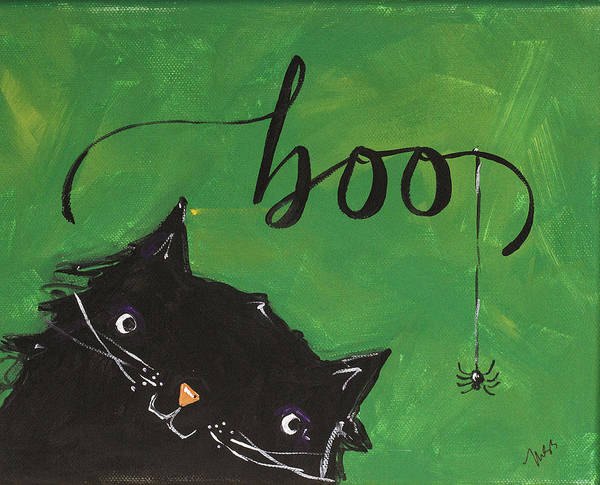 Wall Art - Painting - Boo by Molly Susan Strong