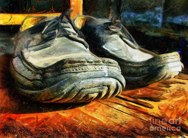 Mixed Media - Boogie Shoes - Walking Story - Drawing by Daliana Pacuraru