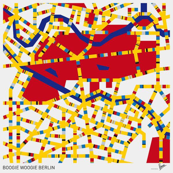 Digital Art - Boogie Woogie Berlin by Chungkong Art