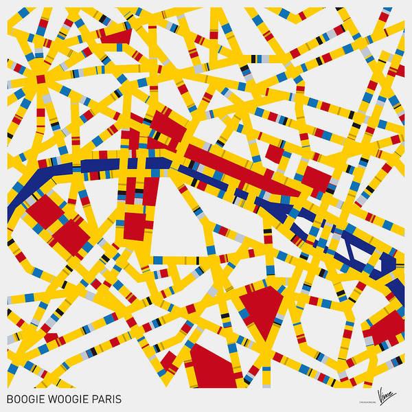 Wall Art - Digital Art - Boogie Woogie Paris by Chungkong Art