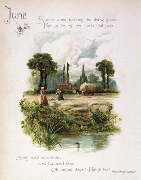 Wall Art - Drawing - Book Illustration -- June by Mary Evans Picture Library