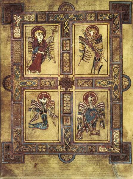 Worship Wall Art - Photograph - Book Of Kells. 8th-9th C. Fol.27v by Everett
