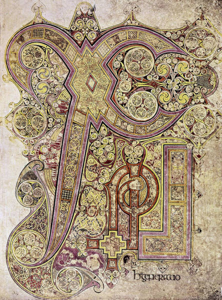 Wall Art - Painting - Book Of Kells Christ Page by Granger