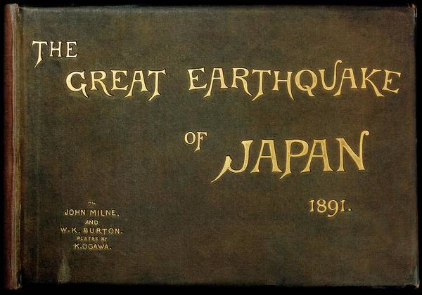 Front Page Photograph - Book On The Great Nobi Earthquake Of 1891 by Royal Astronomical Society/science Photo Library