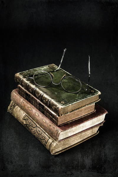 Wall Art - Photograph - Books With Glasses by Joana Kruse