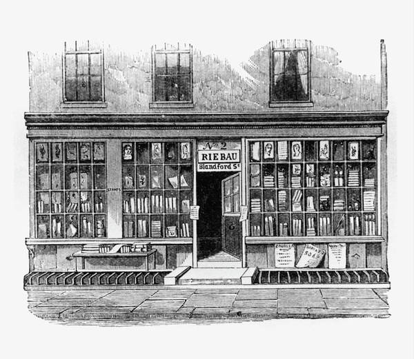 Physicist Photograph - Bookshop Where Faraday Worked by Science Photo Library