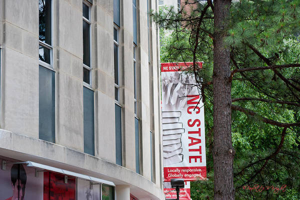 Nc State Wall Art - Photograph - Bookstore Banner - Nc State by Paulette B Wright