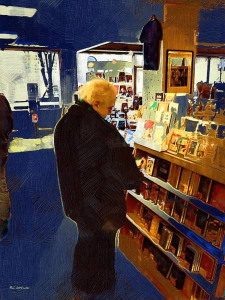 Painting - Bookstore Dreamer by RC DeWinter