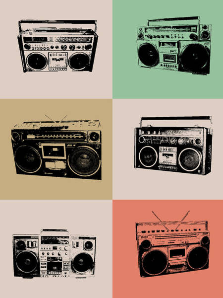 Amusing Wall Art - Digital Art - Boom Box Poster by Naxart Studio