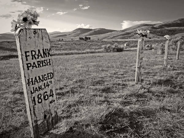 Grave Robbers Wall Art - Photograph - Boot Hill - Virginia City - Montana by Daniel Hagerman