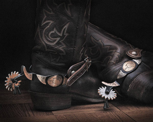 Boots And Spurs Art Print by Krasimir Tolev