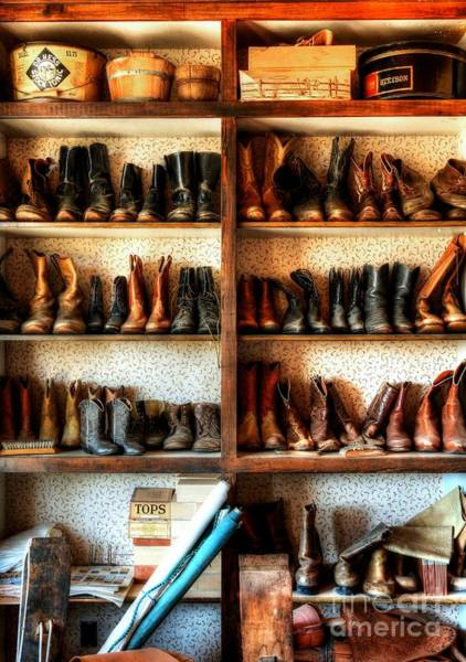 Photograph - Boots And Stuff by Mel Steinhauer