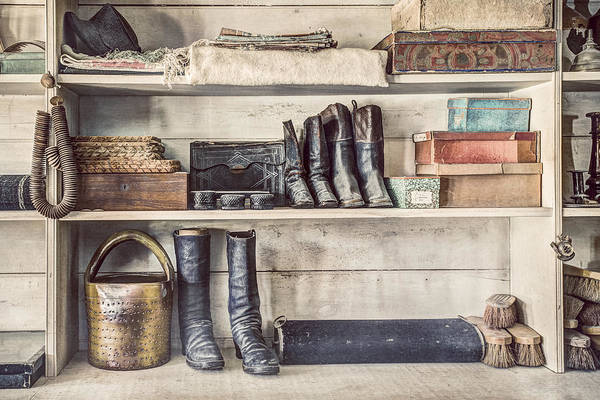 Photograph - Boots And Things - Old General Store by Gary Heller