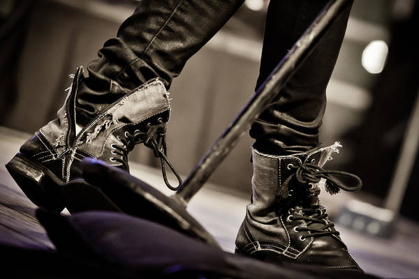 Photograph - Boots At The Mic by Melinda Ledsome