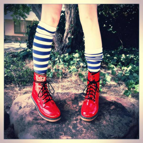 Alice In Wonderland Photograph - Boots Of Glory by Kelly Jade King
