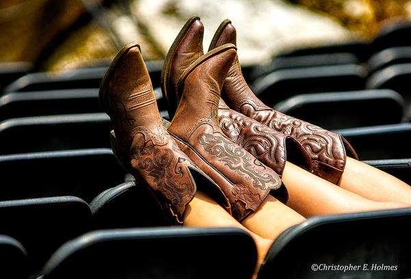 Photograph - Boots Up by Christopher Holmes