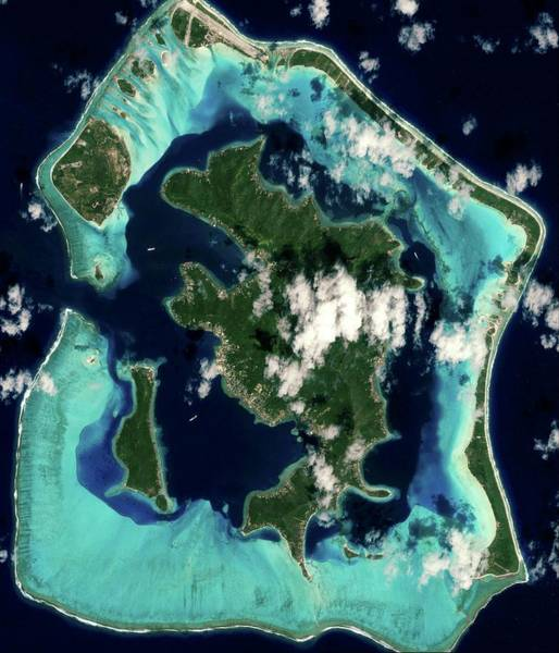 Inactive Photograph - Bora Bora Island by Geoeye/science Photo Library