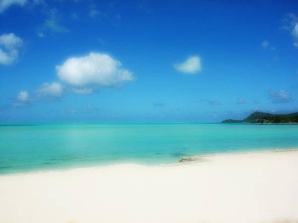 French Polynesia Photograph - Bora Shades Of Blue And White by Julie Palencia