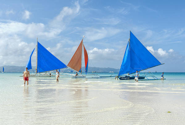 Photograph - Boracay Beach Sailboats by Paul W Sharpe Aka Wizard of Wonders